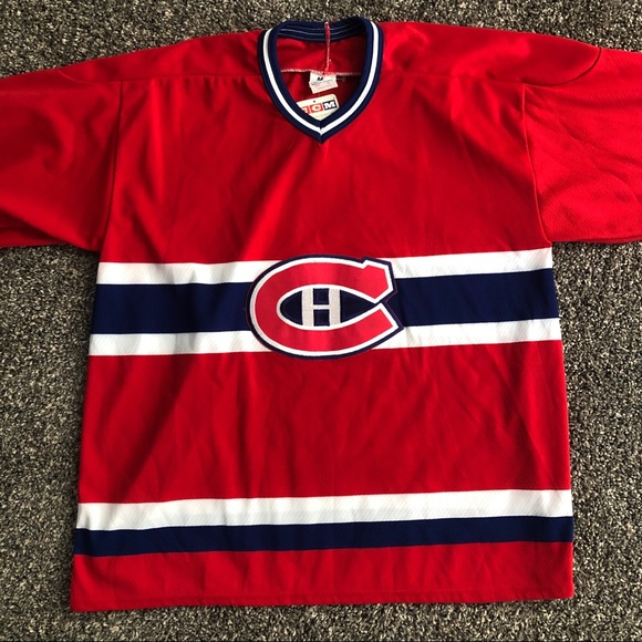 size 40 ea12d 5be12 Vintage CCM Montreal Canadiens NHL Jersey NWT